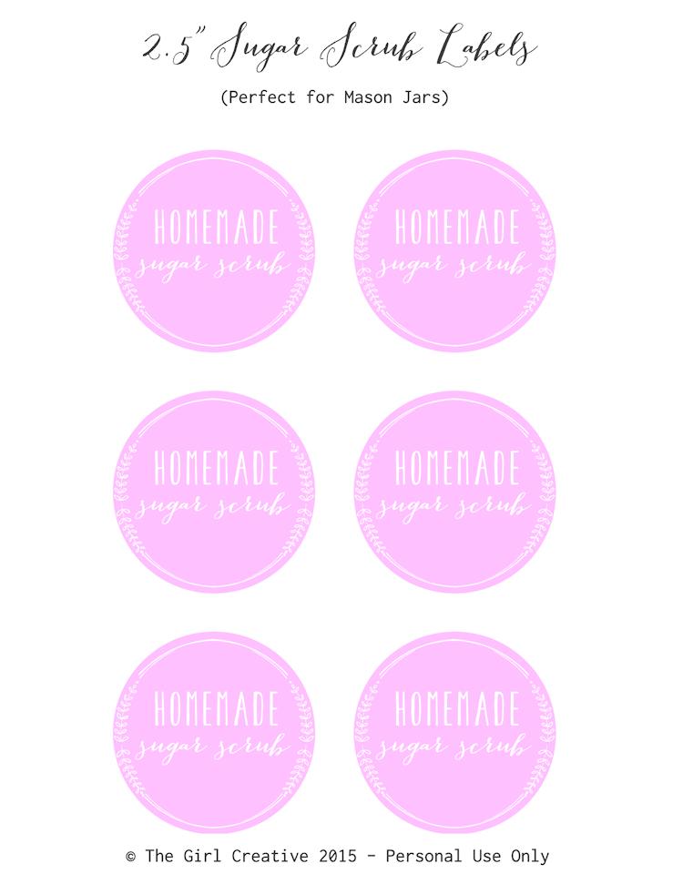 image regarding Printable Sugar Scrub Labels identify No cost Sugar Scrub Labels - The Lady Imaginative