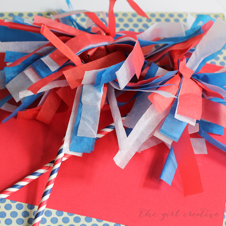 Patriotic Parade Pom Poms-blog hop photo