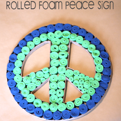 DIY Rolled Foam Peace Sign