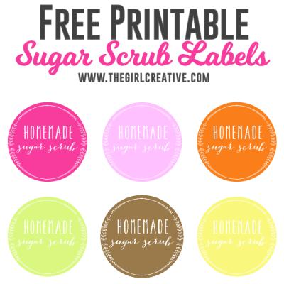 Free Sugar Scrub Labels