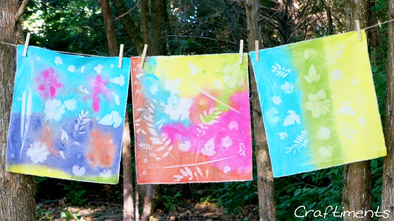 acrylic paint sun prints