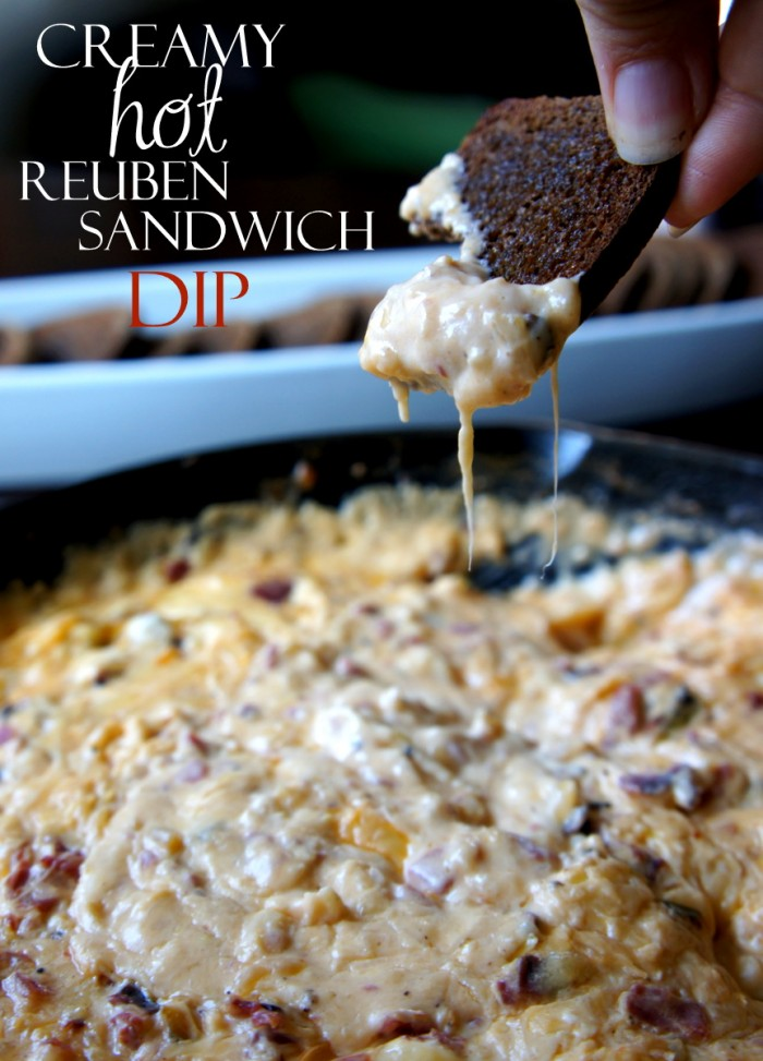 dips-creamy hot reuben sandwich dipe