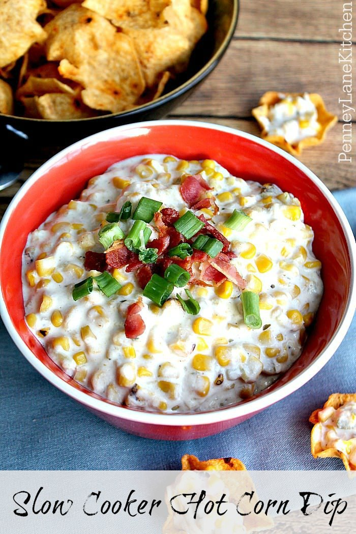 dips-slow cooker hot corn dip