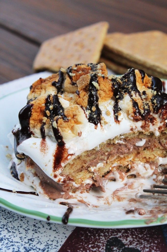 smores-lasagna for one