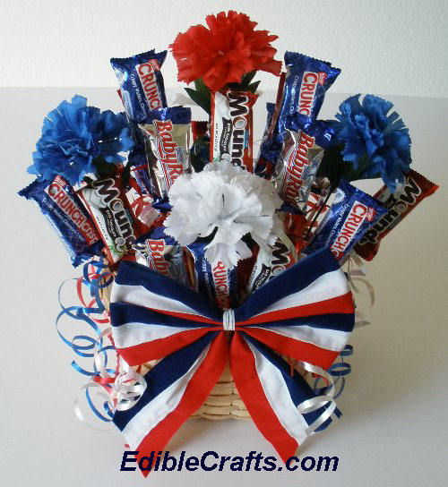 4th of july candybar centerpiece