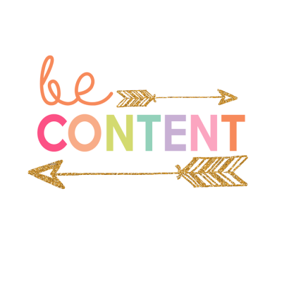 Be Content Printable | Day 8 Kids Prints Series
