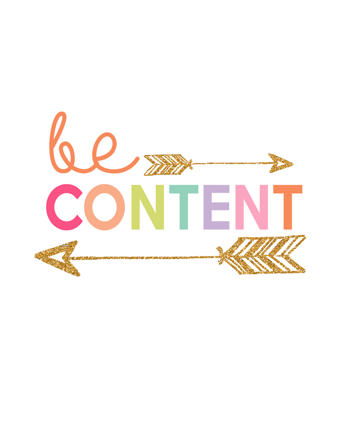 Kids Prints - Be Content700