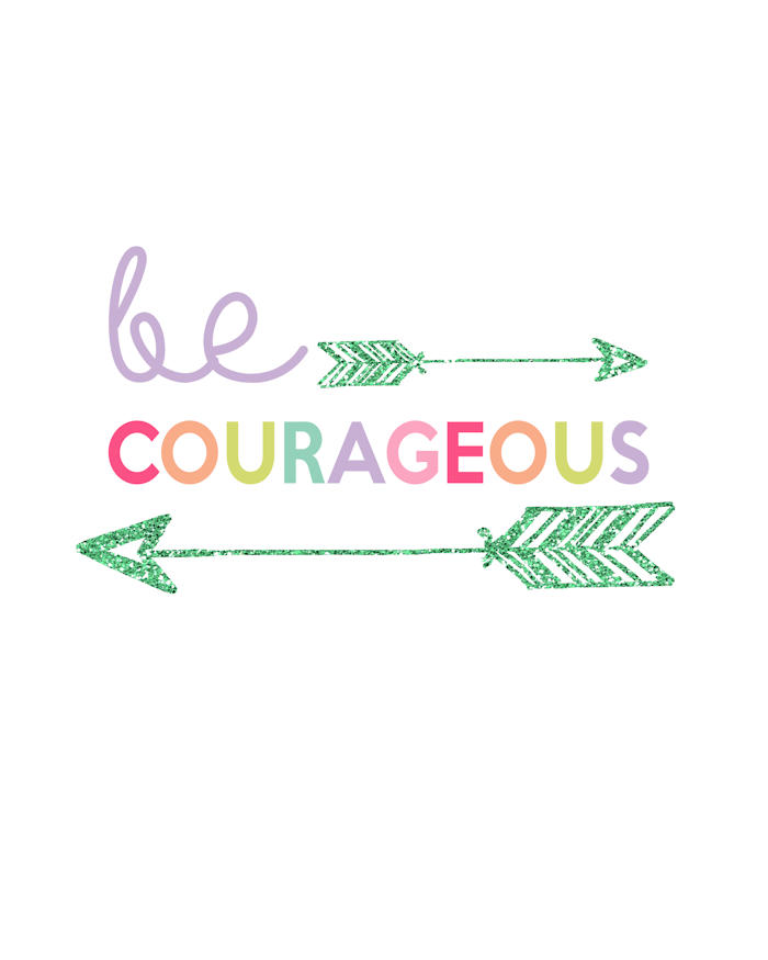 Kids Prints - Be Courageous700
