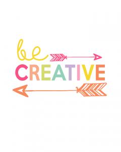 Be Creative Printable | Kids Prints Series at The Girl Creative