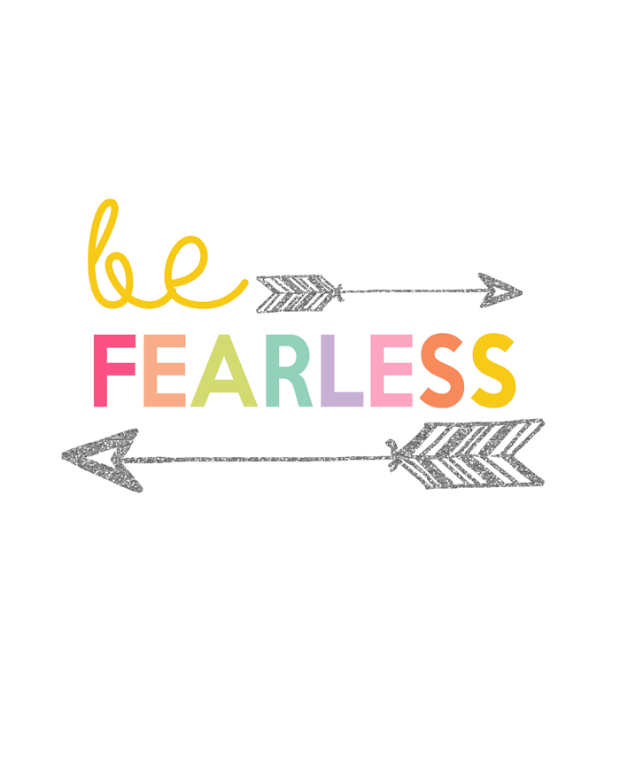 Kids Prints - Be Fearless700