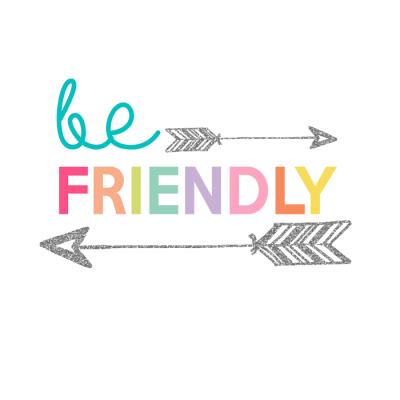 Be Friendly Printable | Day 11 Kids Prints Series