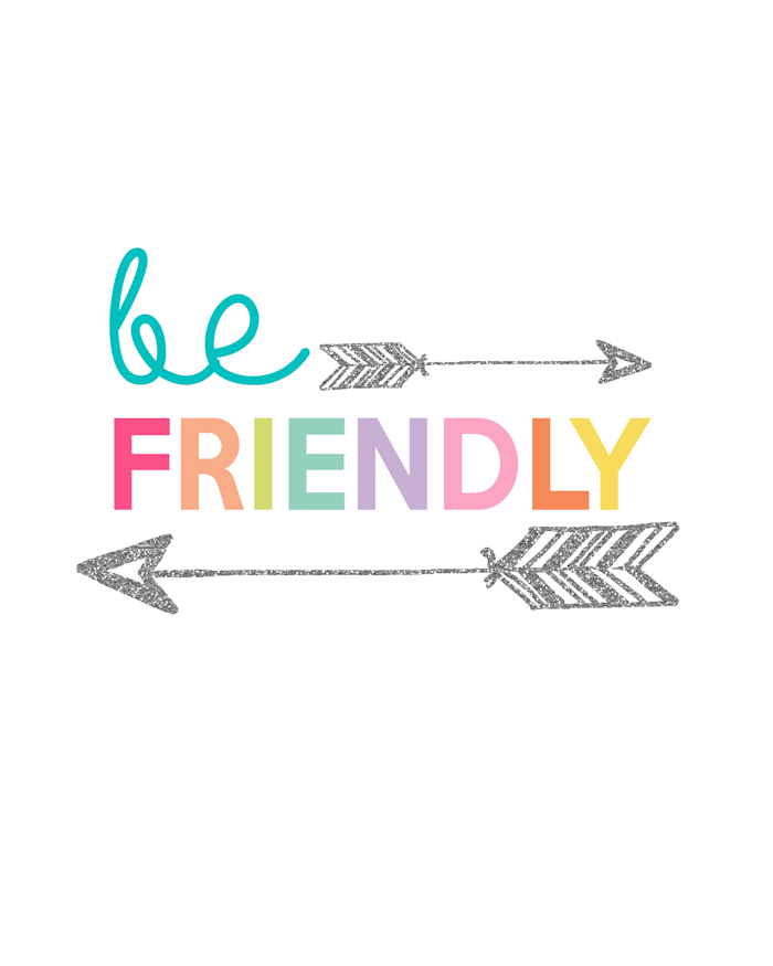 Be Friendly Printable Day 11 Kids Prints Series The