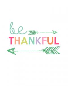Be Thankful Printable | Kids Prints Series - Inspiring wall prints for kids