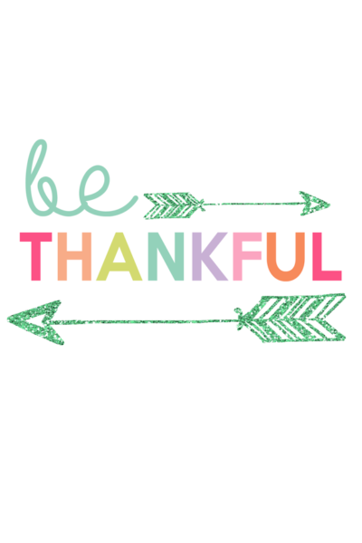 Be Thankful Printable | Kids Prints Series - Inspiring wall prints for kids