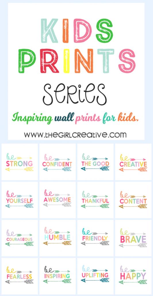 Kids Print Wall Art Collection - Free Printables for Kids