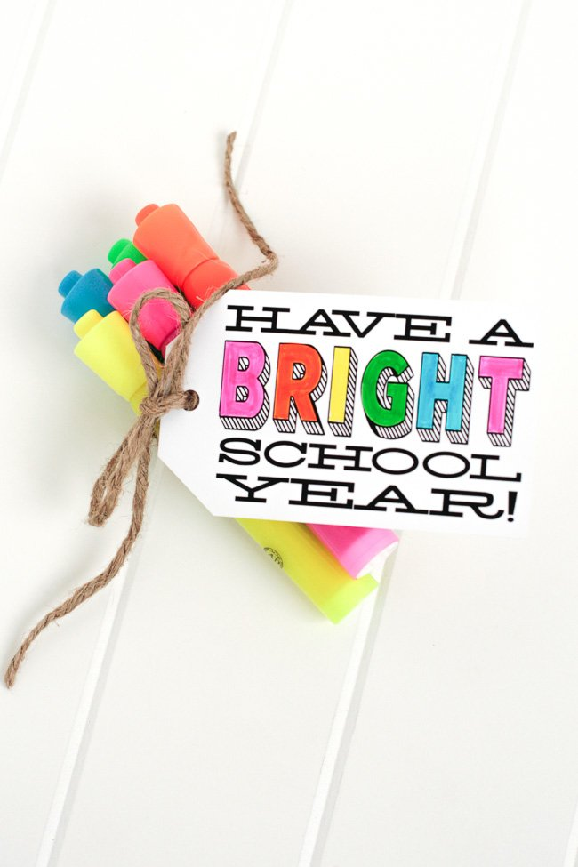 back to school - highlighter gift - tomkat studio