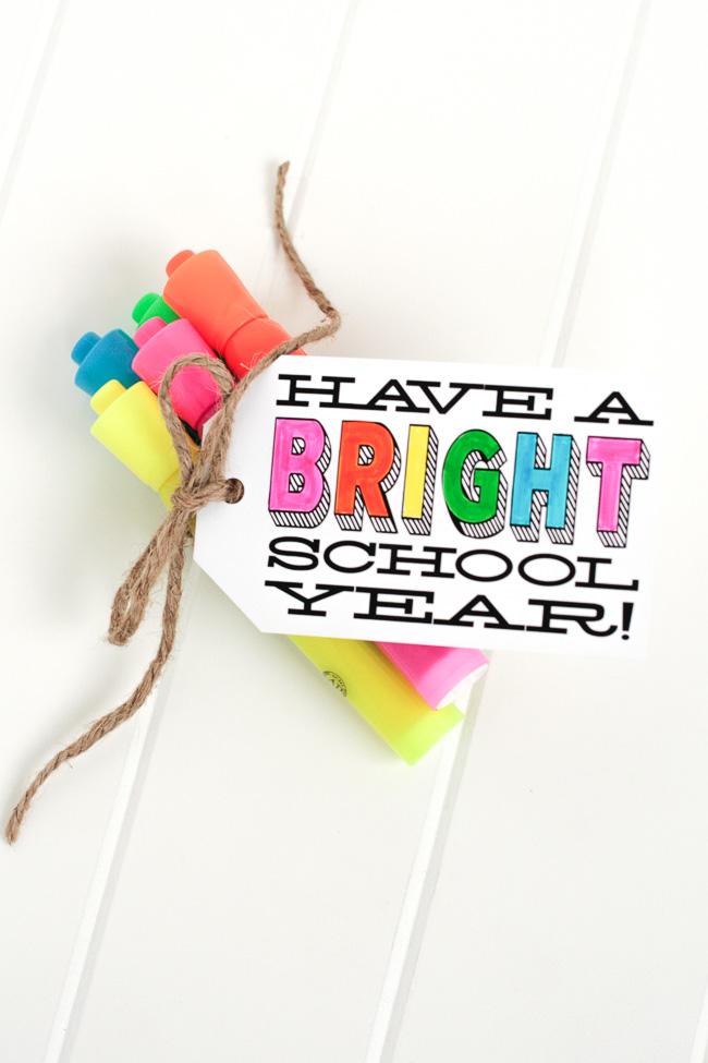 back to school - highlighter gift - tomkat studio