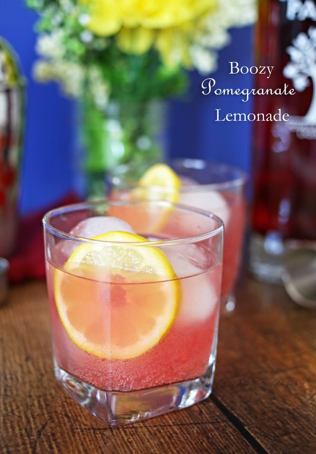 drinks-booze pomegrante lemonade