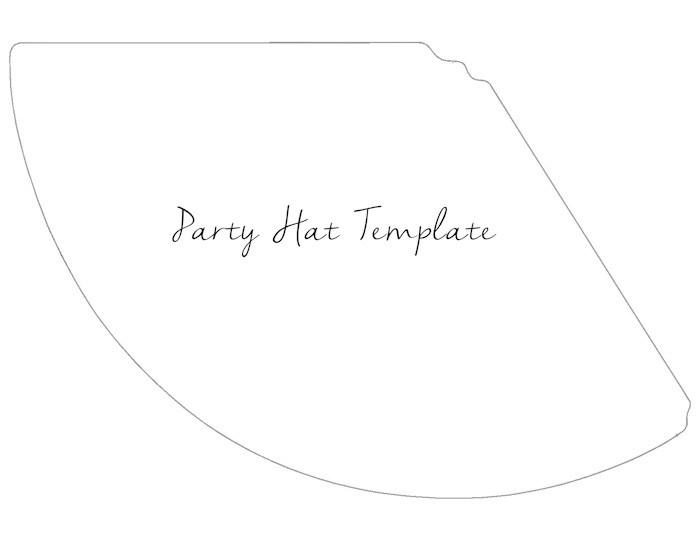 party hat template the girl creative