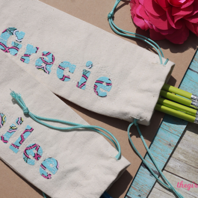 DIY Personalized Pencil Cases with Pull String Closure