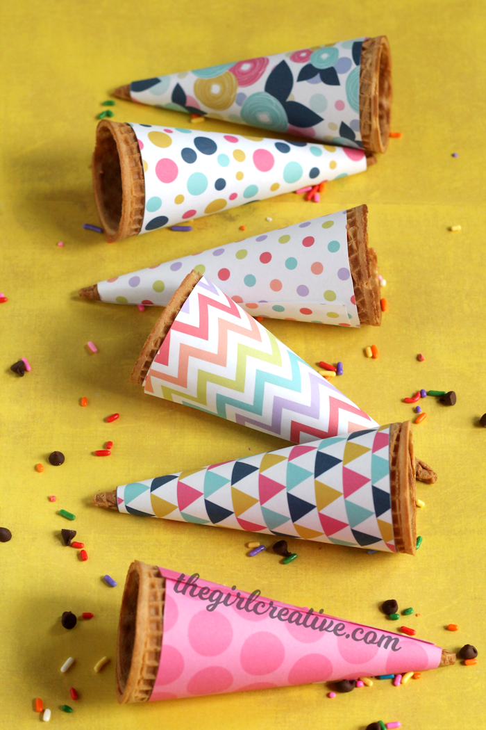 Printable Ice Cream Cone Wrappers-content2