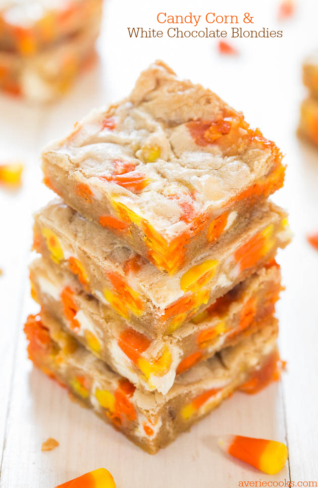 halloween - candy corn blondies