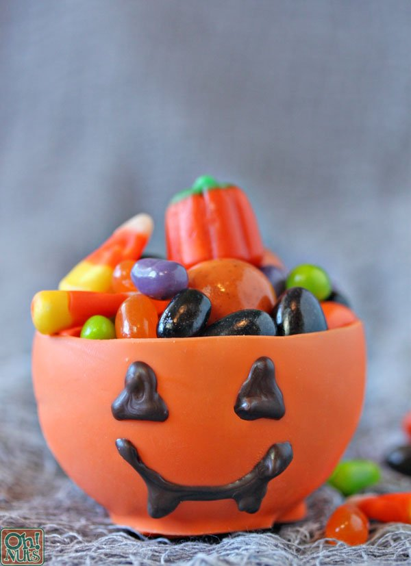 halloween - edible pumpkin cup