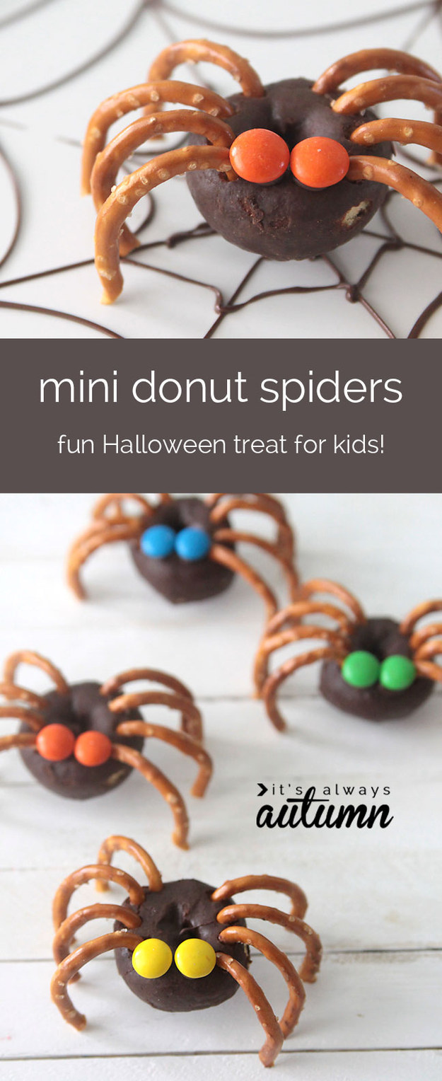 halloween - mini donut spiders