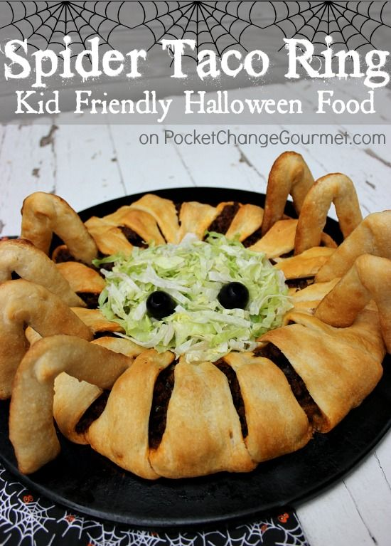 halloween - taco spider ring