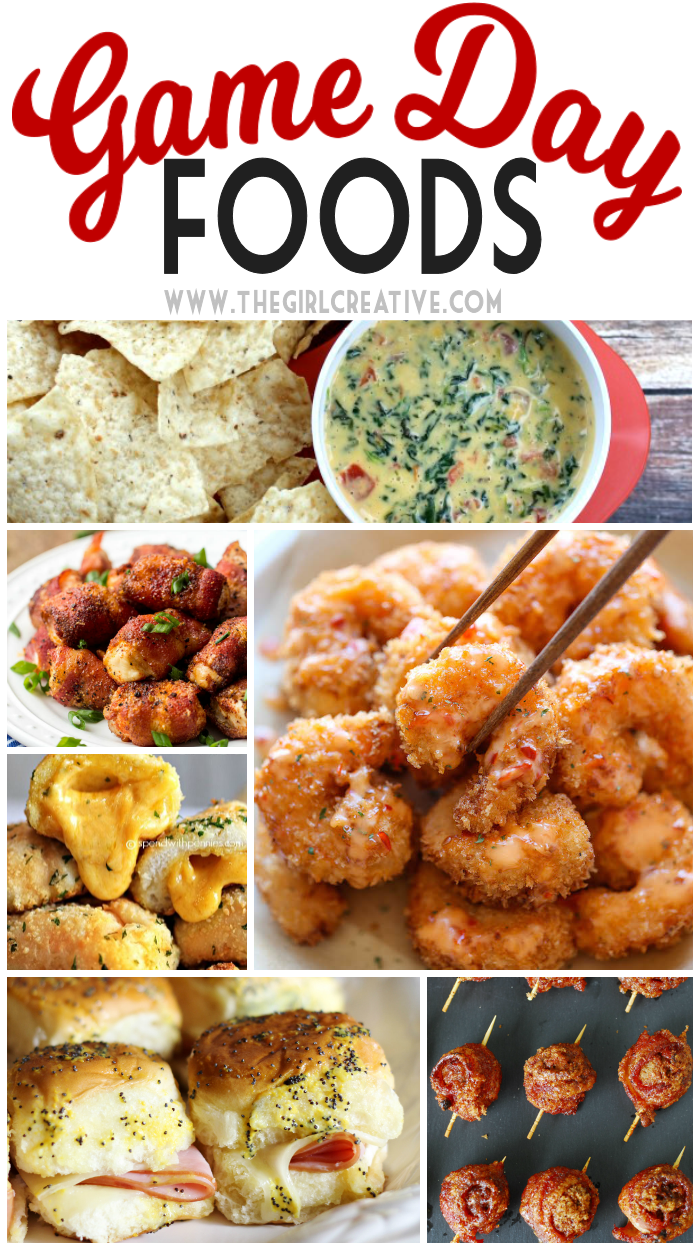 Delicious Game Day Foods - appetizers, finger foods and dips are perfect for football season.