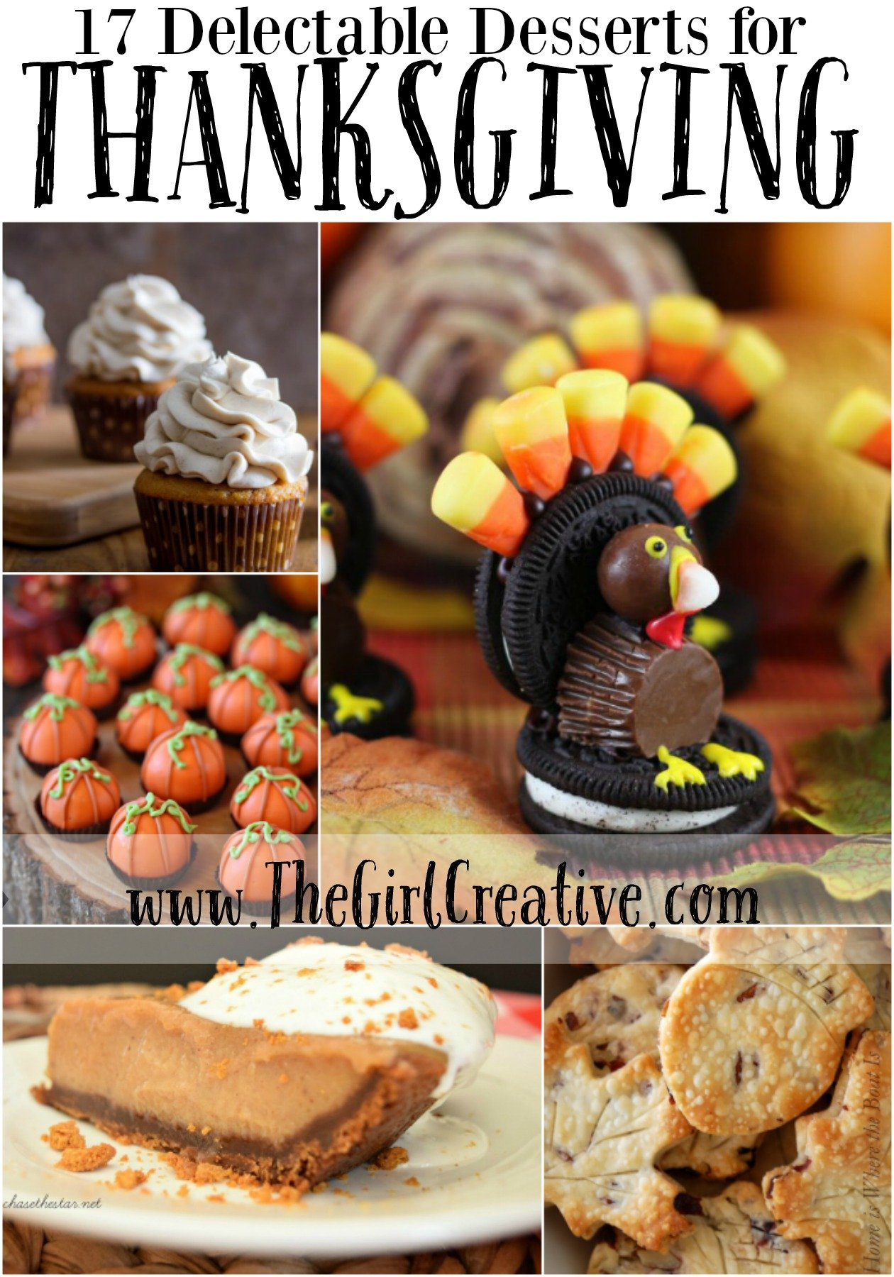 17 Delectable Desserts for Thanksgiving thegirlcreative.com