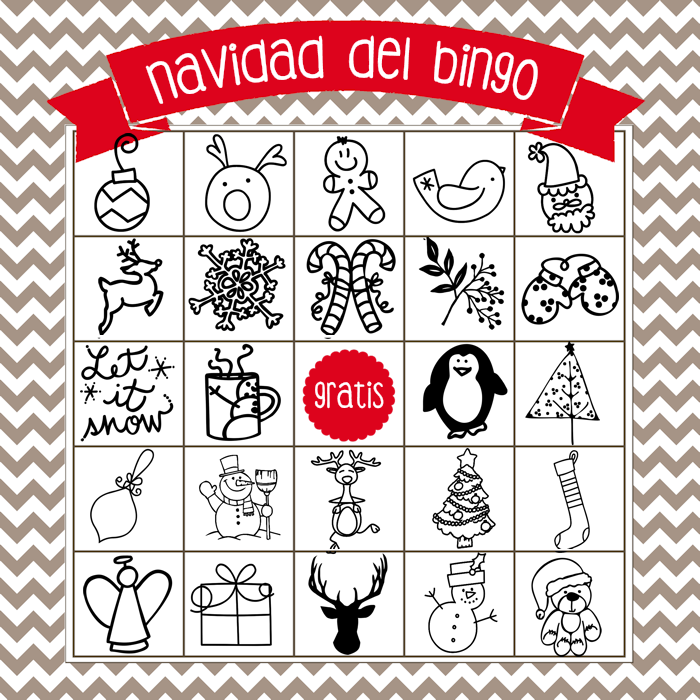 Christmas Bingo Board 4 - Spanish