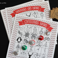 Printable Christmas Bingo in English and Spanish