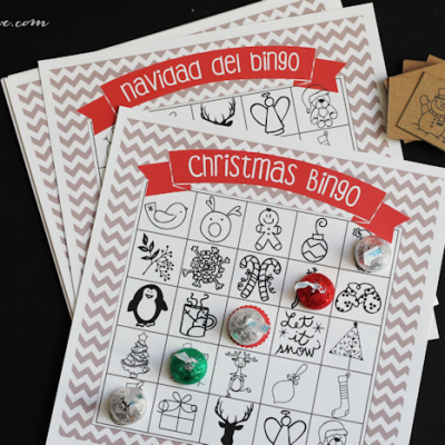 Printable Christmas Bingo Game – in English and Spanish