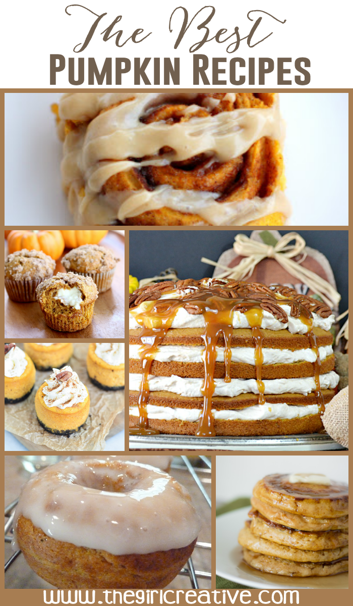 The Best Pumpkin Recipes - Looking for the perfect pumpkin recipes? This collection is loaded with them.Pumpkin donuts, pumpkin pie, pumpkin pancakes, oh MY!
