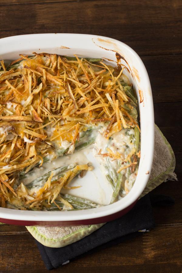 real green bean casserole-oh sweet basil