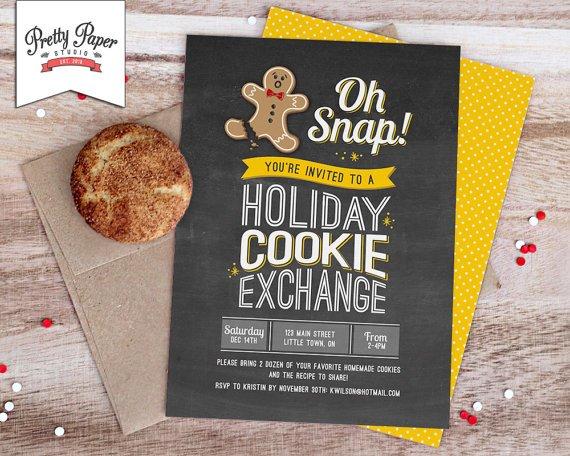 Cookie Swap-invite-gingerbread