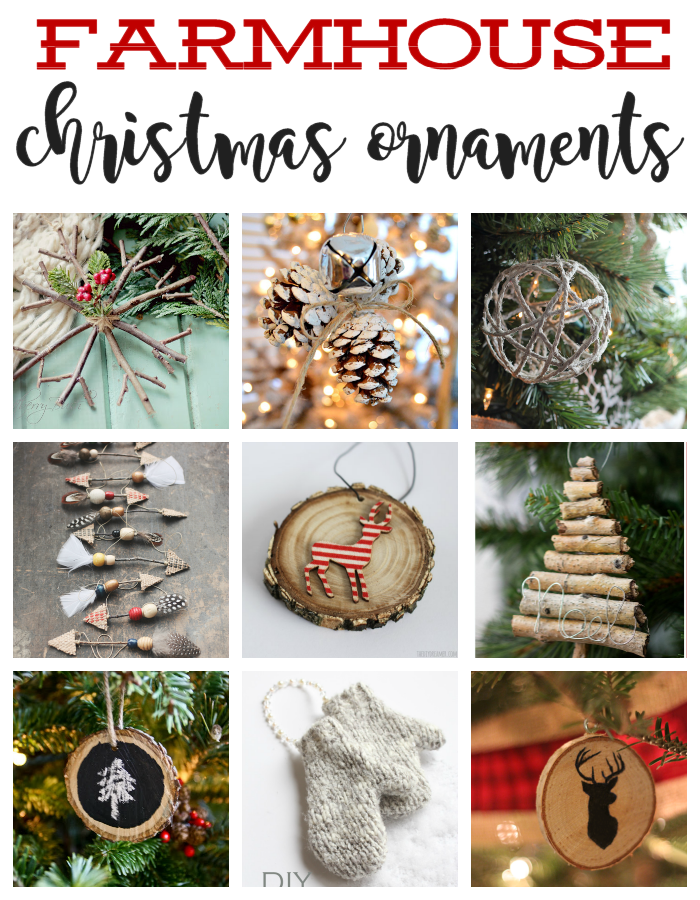 Farmhouse Christmas Ornaments - Rustic Christmas Ornaments to DIY