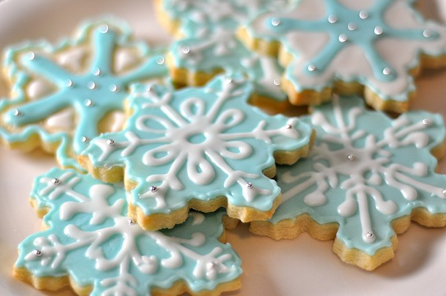 cookie swap-snowflake sugar cookies