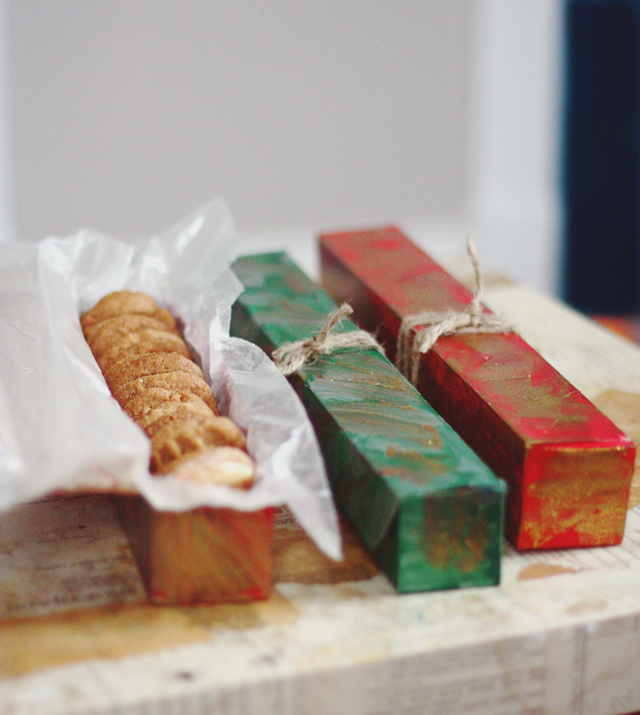 cookie swap-wrapping-old foil boxes