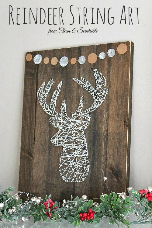 rustic-reindeer string art