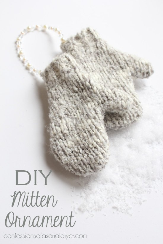 rustic-sweater mittens ornament