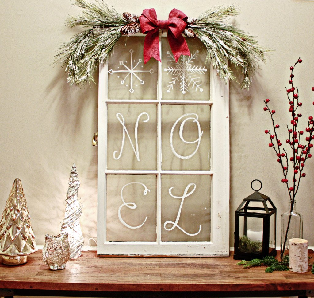 rustic vintage window rustic vintage window decor - Vintage Rustic Christmas Decorations