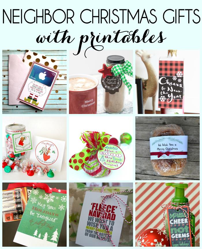 Christmas Neighbor Gifts with Printables