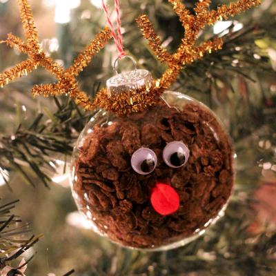 Cocoa Pebbles Reindeer Ornament