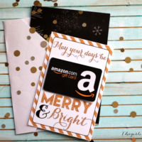 Printable Christmas Gift Card Holders