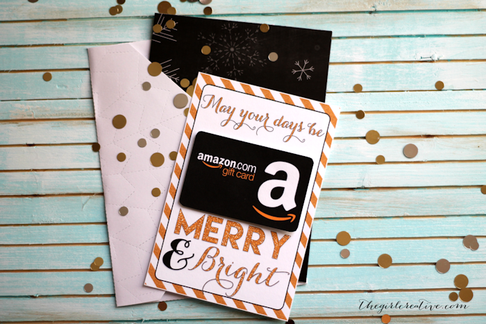 Printable christmas gift card holders the girl creative gift card holders negle Choice Image