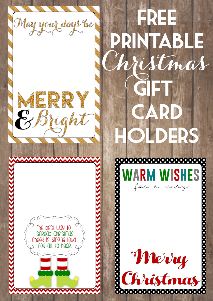 Printable christmas gift card holders the girl creative gift card holders wood background negle Image collections