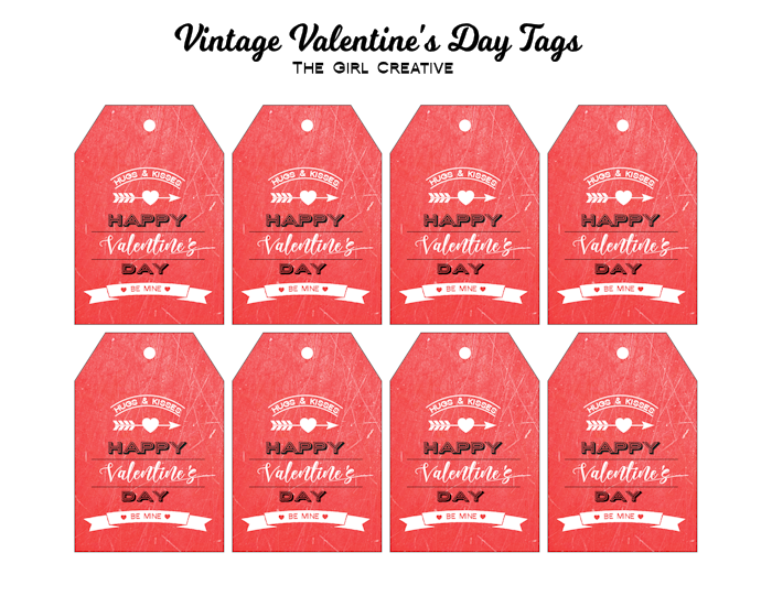 Vintage Valentine's Day Tags - Free Printable