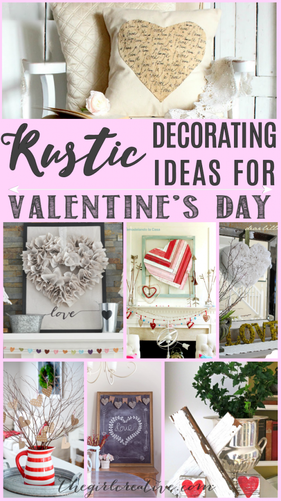 Rustic Decorating Ideas for Valentine's Day - Valentine Mantels, Wreaths, Arrows, Pallet Art - tons of beautiful inspiration for decorating your home for Love Day